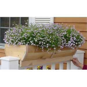 28 in. Deck Rail Planter