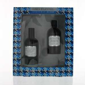 Geoffrey Beene Grey Flannel 4oz EDT Sp 4oz A.S. Lot Men 2Pc Gift Set