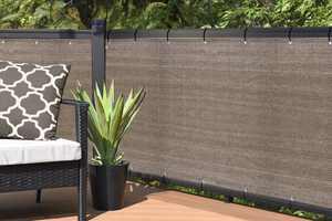Alion Home Elegant Privacy Screen For Backyard Deck, Patio, Balcony, Fence, Pool, Porch, Railing - Walnut - 3' x 16'