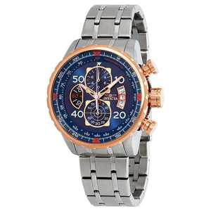 Invicta Men's 17203 Aviator Blue Dial Stainless Steel Bracelet Chronograph Watch