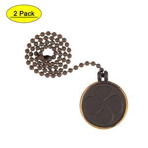 Uxcell 12 inch Coin Shape Bulb Pull Chain Extension Bronze 2 Pack