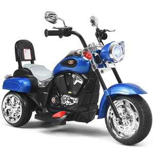 Costway 3 Wheel Kids Ride On Motorcycle 6V Battery Powered Electric Toy Blue