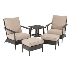 Better Homes & Gardens Emeryville 5-Piece Chat Set with Beige Cushions