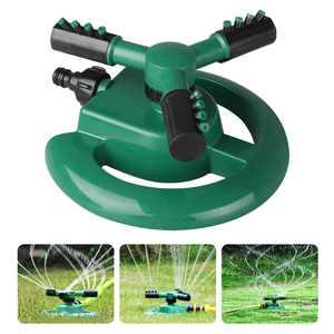 TSV Garden Sprinkler Lawn Irrigation System 3603-Arm Automatic Adjustable Rotating Backyard Lawn Sprinkler Durable Garden Water Sprayers Large Area Coverage Easy Hose Connection Leak Free Design