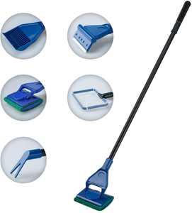 5 in 1 Aquarium Cleaning Set Fish Tank Clean Set Aquarium Algae Scrubber Scraper Glass Cleaner Tool Kit
