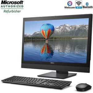All in One Desktop Computer Dell Optiplex 7440 Intel Core i5 Processor 8GB RAM 500GB Hard Drive with DVD Wifi Bluetooth Webcam and Windows 10 Pro - Refurbished