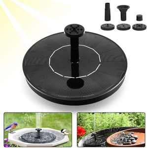 Solar Fountain Pump for Bird Bath, 1.4W Free Standing Floating Powered Pumps for Garden, Patio, Pond and Pool