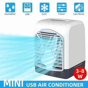 Portable Mini USB Air Conditioner Humidifier Purifier Air Cooler Air Cooling Fan Air Aromatherapy Humidification Three Gear Air Volume Adjustable For Home Office Room