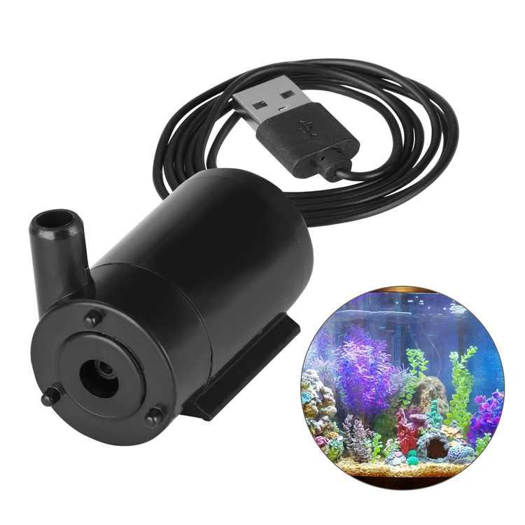 TSV Fish Tank Water Pump, DC 5V USB Mini Submersible Water Pump, Ultra Quiet Mini Small Fountain Pump, Water Pumping for Pet Drinking System Aquarium Pond Water Circulation Application