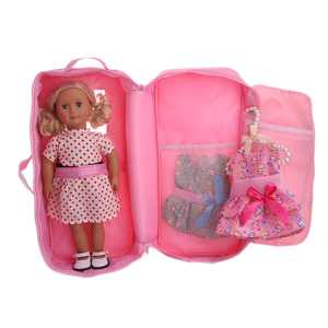 Doll Travel Suitcase Storage Bag Wardrobe Accessories Bag For 18 inch Doll PK