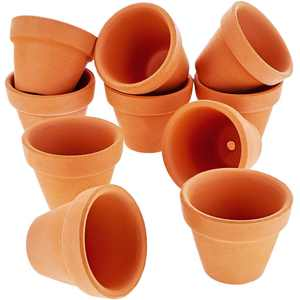"10-Pack 1.5"" Terra Cotta Pots, Mini Small Terracotta Flower Clay Pots Planters for Plants, Ceramic Pottery Nursery Indoor Outdoor Garden Gardening for Cacti and Succulent, Brown, 1.5 inches"