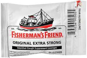 Fisherman's Friend - Menthol Cough Suppressant Lozenges Original Extra Strong - 20 Lozenges