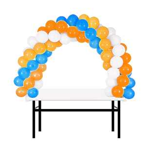 BalsaCircle White 12 feet Balloon Arch Stand Kit - Wedding Event Graduation Party Decorations Supplies