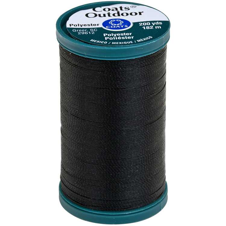 Outdoor Living Thread, 200-Yard, Black, This high quality thread is ideal for all outdoor projects This package contains one 200-Yard/182m roll of polyester thread By Coats