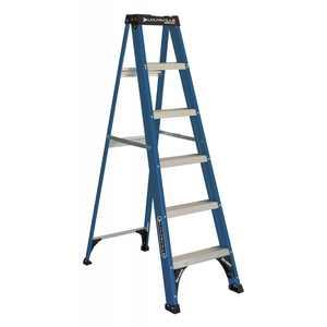 Louisville Ladder 6 ' Fiberglass Step, 10' Reach, 225-lb, Load Capacity, W-3217-06