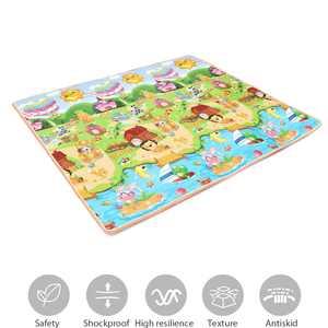 Nontoxic Baby Kids Play Mat Floor Rug Picnic Cushion Crawling Mat 78.7x70.9x0.6 inches