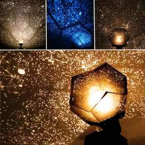3 Colors Star Sky Laser Light Projector Cosmos Celestial Night Light Projector Baby Sleeping Night Light Lamp Home Bedroom Room Decor