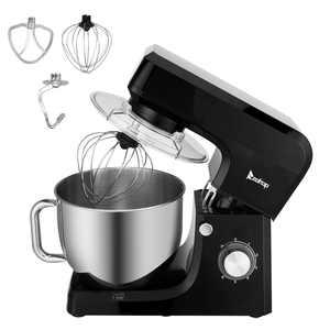 ZOKOP 7.5Qt Professional Stand Mixer, 6-Speed Tilt-Head Food Electric Mixer Kitchen Machine, Black