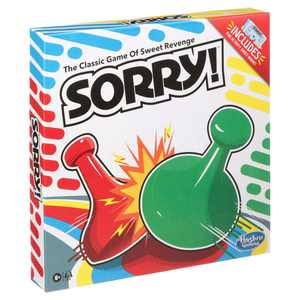 Sorry! Board Game, Includes Activity Sheet