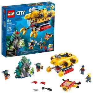 LEGO City Ocean Exploration Submarine 60264, Building Toy for Kids 5+ (286 Pieces)