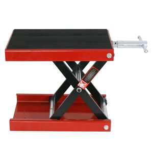 ZENSTYLE 1100 Lbs Motorcycle Scissor Jack Lift Wide Deck Stand Widow Cruiser Touring Bike - Red
