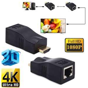 HDMI-compatible to RJ45 Extender Over Cat 5e/6 Network LAN Ethernet Adapter