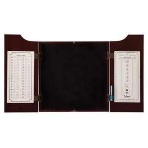Viper Hudson Steel Tip Dartboard Cabinet with Scoreboard, Mahogany