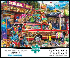 Buffalo Games Two Thousand Piece Collection - Aimee Stewart's Family Vacation 2000 Pieces Jigsaw Puzzle