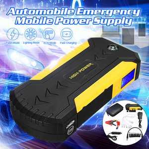 12V 88000mAh Mini Car Jump Starter Battery Emergency Power Bank Starter 4USB Multi-Function Portable