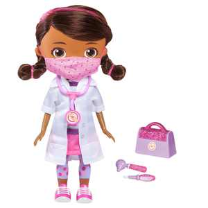 Disney Junior Doc McStuffins Wash Your Hands Singing Doll, With Mask & Accessories, Dolls(Docmcstuffins), Ages 3 Up, by Just Play