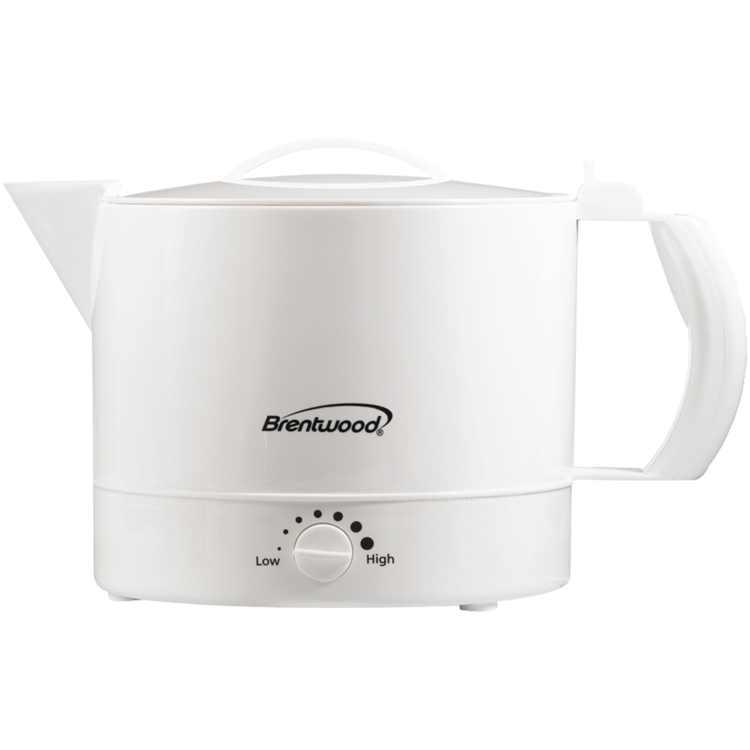 Brentwood KT-32W BPA Free 32oz. Electric Kettle Hot Pot, White