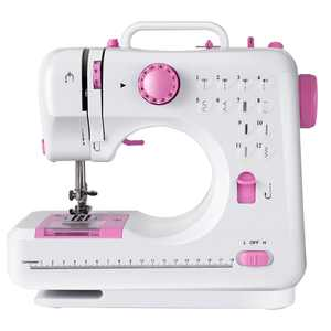 Costway Sewing Machine Free-Arm Crafting Mending Machine with 12 Built-In Stitched in White