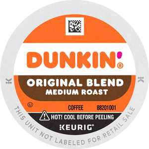 Dunkin' Original Blend, Medium Roast Coffee, K-Cup Pods for Keurig K-Cup Brewers,10-Count (Packaging May Vary)