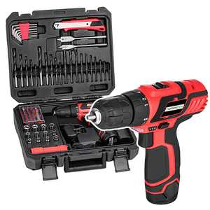 78-Piece 12-Volt Lithium-Ion Cordless Drill Project Kit