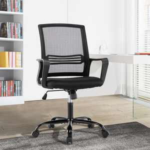 Office Chair,Mid Back Mesh Office Computer Swivel Desk Task Chair,Ergonomic Executive Chair with Armrest