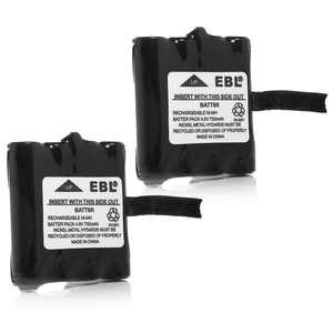 EBL 2-Pack 4.8V 700mAh Replacement Battery for Midland BATT-6R M99, LXT300, LXT314, LXT317, LXT500VP3, LXT380, LXT385VP3, XT535 Two-Way Radio Batteries
