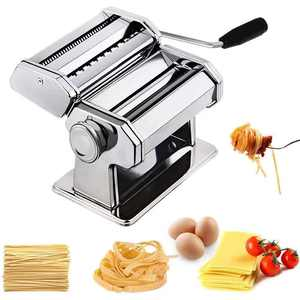 Pasta Machine Mighty Rock 150 Roller Pasta Maker, Roller Cutter Noodles Maker with Washable Aluminum Alloy Rollers and Cutter,Perfect for Spaghetti, Fettuccini, Lasagna or Dumpling Skins