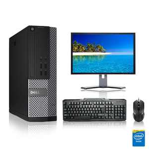 """Refurbished - Dell Optiplex Desktop Computer 3.1 GHz Core 2 Duo Tower PC, 4GB, 500GB HDD, Windows 10 Home x64, 20"""" Monitor , USB Mouse & Keyboard"""