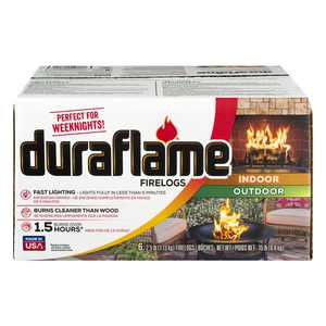 Duraflame 2.5lb Indoor and Outdoor Firelogs, 6-pk Case - Burn for 1.5 hours