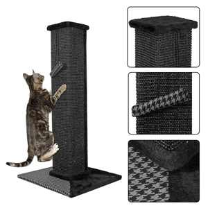 Cat Scratch Post Cats Kittens - Plush Sisal Scratch Pole Cat Scratcher and Hammock - 32 inches