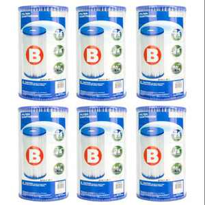 Intex Pool Easy Set Filter Cartridge - Type B (6 Pack) | 29005E (59905E)
