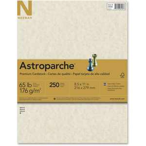 Astrobrights Laser, Inkjet Print Card Stock - 30%, Natural, 250 / Pack (Quantity)