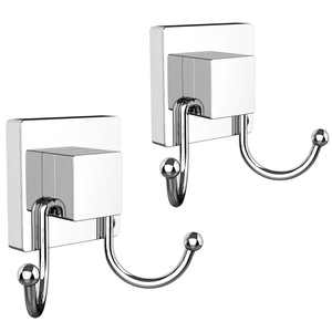 HOME SO Suction Cup Towel Hooks for Shower, Bathroom, Glass, Tiles, 2-Pack