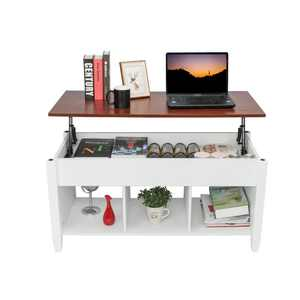 Ktaxon Lift Top Coffee Table w/ Hidden Compartment and Storage Shelves Furniture