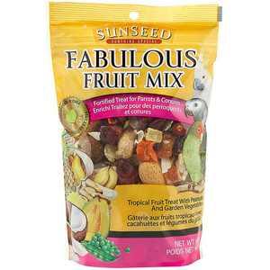 Sunseed Fabulous Fruit Mix Treats for Parrots & Conures 12 Oz