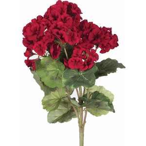 """Vickerman 18"""" Artificial Red Geranium Bush"""