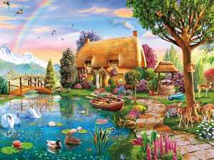 Lakeside Cottage 300 Piece Jigsaw Puzzle