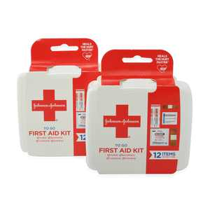 Johnson & Johnson Set of 2 To Go First Aid Kits 12 items
