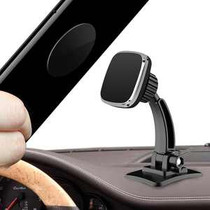 Magnetic Phone Car Mount, EEEkit Universal Magnet Dashboard Cell Phone Holder with 2 Metal Plates for Car Compatible with iPhone SE 11 Pro Max Xr Xs 8 7 6S Note 10 5G and All Smartphone