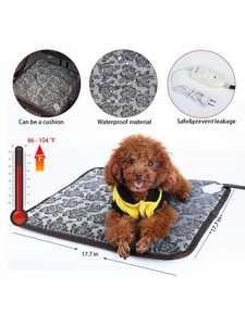 MarinaVida Pet Warm Heated Pad Puppy Dog Cats Large Electric Waterproof Bed Mat Heater Mats